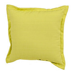 Solid Citron Outdoor Pillow