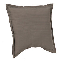 Solid Gray Outdoor Pillow