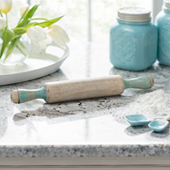 Blue Wood Rolling Pin