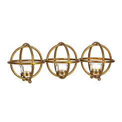 Cutout Sphere Tealight Candle Runner