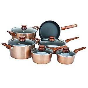 Copper 11 pc. Non-Stick Cookware Set
