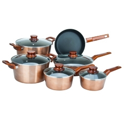 Copper 11 pc. Non-Stick Cookware Set