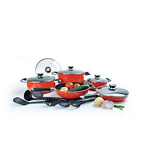 Red 16 pc. Non-Stick Cookware Set