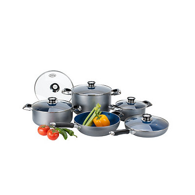 Blue 10 pc. Non-Stick Cookware Set