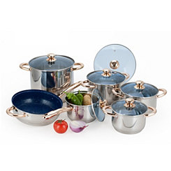 Stainless Steel 12 pc. Cookware Set