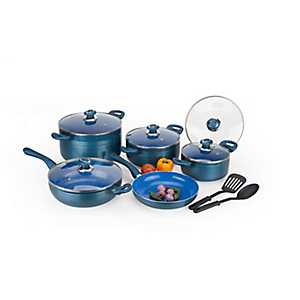 Blue Marble 12 pc. Non-Stick Cookware Set