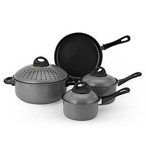 Gray 7 pc. Non-Stick Pasta Cookware Set