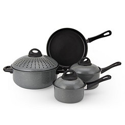 Gray 7 pc. Non-Stick Pasta Cookware Set