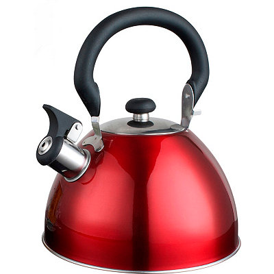 Red Whistling Tea Kettle