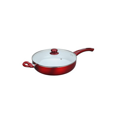 Red Ceramic Non-Stick Deep Frying Pan