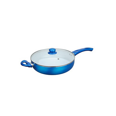 Blue Ceramic Non-Stick Deep Frying Pan