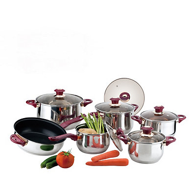 Burgundy 12 pc. Cookware Set