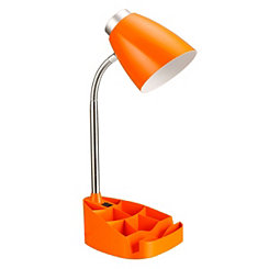 Orange Desk Lamp with Tablet Stand
