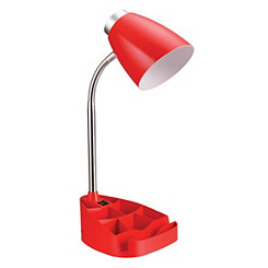 Red Desk Lamp with Tablet Stand
