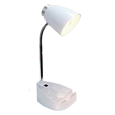 White Desk Lamp with Tablet Stand