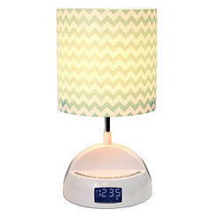 Blue Chevron Speaker Lamp