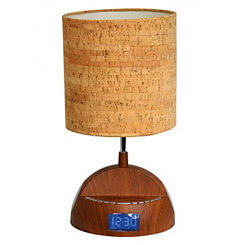 Wood Grain Speaker Lamp