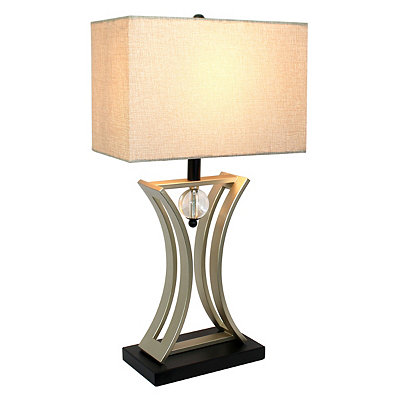 Modern Nickel Executive Table Lamp