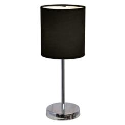 Black Chrome Mini Table Lamp