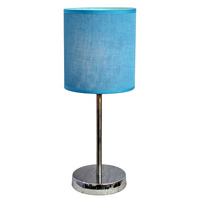 Blue Chrome Mini Table Lamp