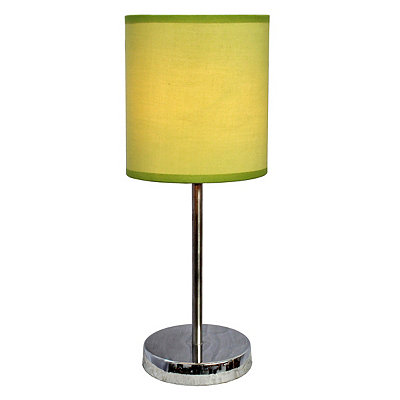 Green Chrome Mini Table Lamp