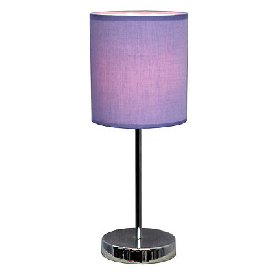 Purple Chrome Mini Table Lamp