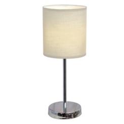 White Chrome Mini Table Lamp