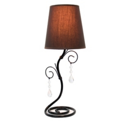 Black Twisting Vine Table Lamp