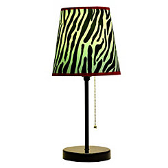 Pink Zebra Stripe Table Lamp
