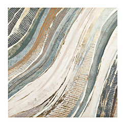 Abstract Waves Canvas Art Print