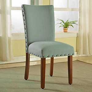 Seafoam Green Parsons Chairs, Set of 2