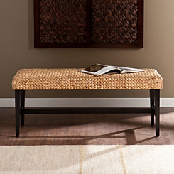 Natural Blanchard Water Hyacinth Bench
