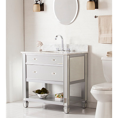 Alexandria Marble Top Bath Vanity Sink, 33 in.