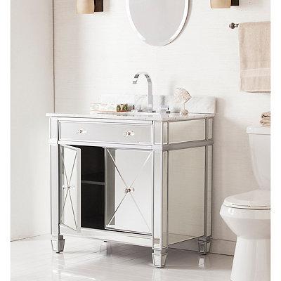 Elizabeth Marble Top Bath Vanity Sink, 33 in.