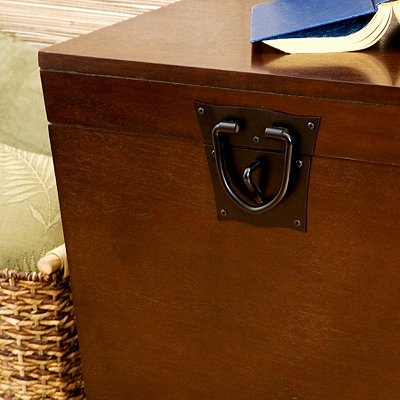 Espresso Tapered Trunk Side Table
