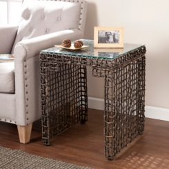 Navagio Woven End Table
