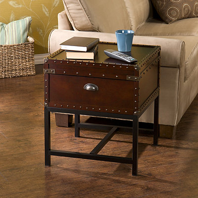 Bryson Espresso Trunk Side Table