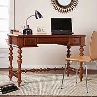 Nobel Oak Turned Leg Desk