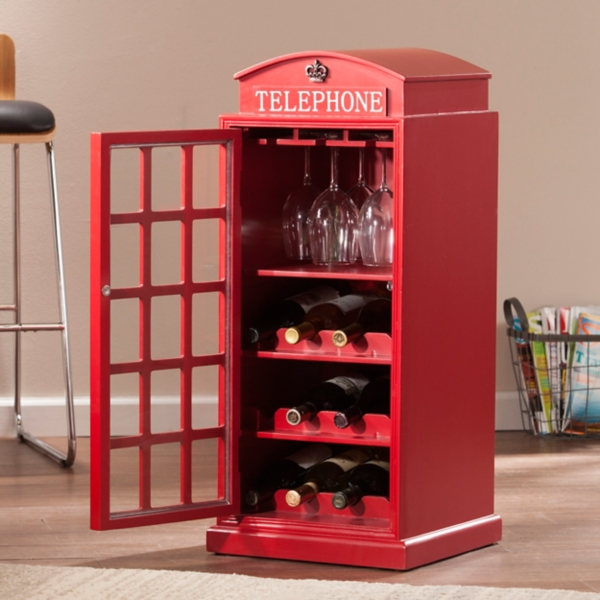 Franklin Phone Booth Wine Cabinet