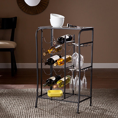 Black Julius Wine Rack Storage