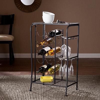 Black Julius Wine Rack Storage