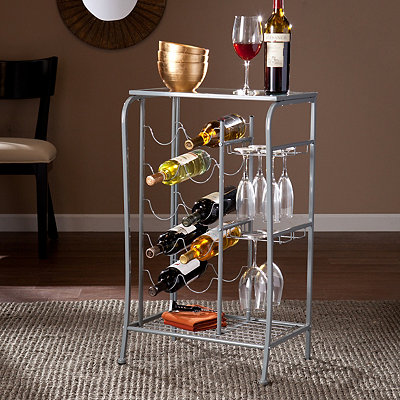 Silver Julius Wine Rack Storage