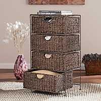 Seagrass 4-Drawer Storage Chest