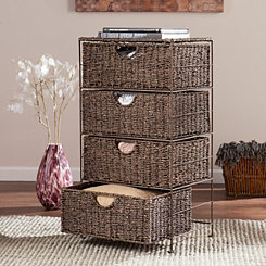 Seagrass 4-Drawer Storage Chest