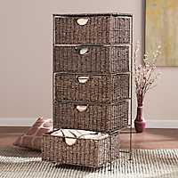 Seagrass 5-Drawer Storage Chest
