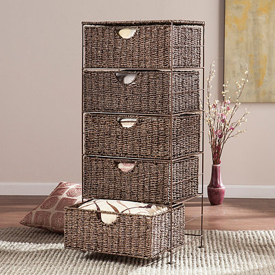 Seagrass 5-Drawer Storage Chest