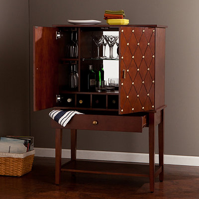 Baker Walnut Bar Cabinet