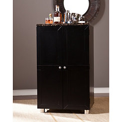 Wolfsheim Black Bar Cabinet