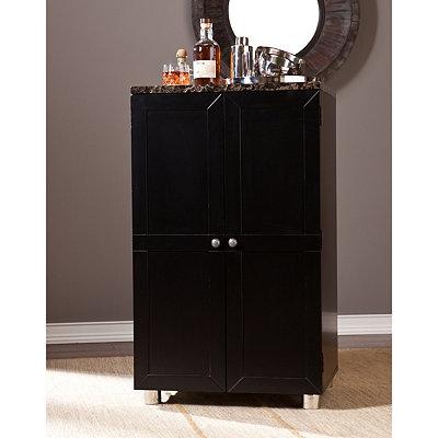 Wolfsheim Black Bar Cabinet