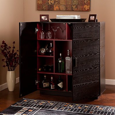 Ebony Barrymore Bar Cabinet